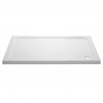 April Rectangular Shower Tray 1400mm x 700mm - Stone Resin