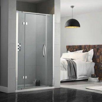 Aquadart Inline Hinged Recess Shower Door 900mm Wide - 8mm Glass