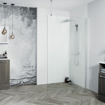 Aquadart 8 Walk-In Wet Room Panel 1000mm Wide - 8mm Clear Glass