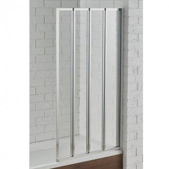 Aquadart Venturi 6 Swiftseal LH Semi-Frameless 4-Folding Bath Screen 1400mm H x 800mm W - 6mm Glass