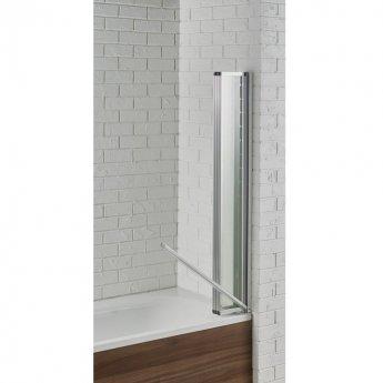 Aquadart Venturi 6 Swiftseal Four Folding Bath Screen 1400mm H x 800mm W - 4mm Glass
