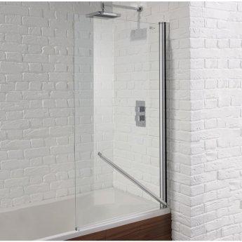 Aquadart Venturi 6 Swiftseal Hinged Bath Screen 1400mm H x 800mm W - 6mm Glass