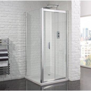 Aquadart Venturi 6 Frameless Bi-Fold Shower Door 1000mm Wide - 6mm Glass