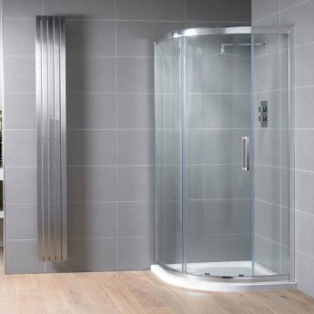 Aquadart Venturi 8 Single Offset Quadrant Shower Enclosure 1200mm x 800mm - 8mm Glass
