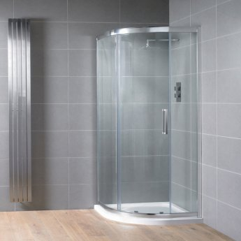 Aquadart Venturi 8 Single Quadrant Shower Enclosure 1000mm x 1000mm - 8mm Glass