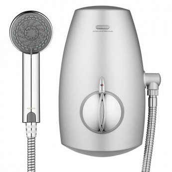 Aqualisa Aquastream Thermo Power Shower with Adjustable Head Chrome