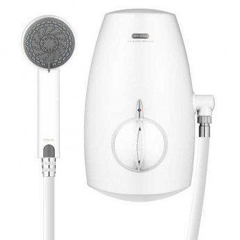 Aqualisa Aquastream Thermo Power Shower with Adjustable Head White