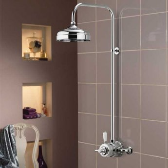 Aqualisa Aquatique Thermo Exposed Shower Valve - Chrome