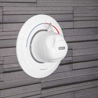 Aqualisa Aquavalve 609 Concealed Thermostatic Shower Valve, White