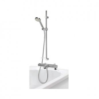 Aqualisa Midas 110 Bath Shower Mixer with Shower Kit + Tap Spout