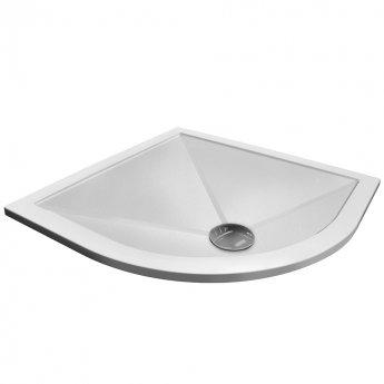 Aqualux AQ25 Sphere Anti Slip Quadrant Shower Tray 900mm x 900mm - Stone Resin