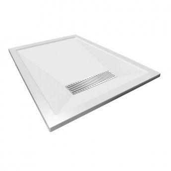 Aqualux AQUA25 Definition Rectangular Shower Tray with Waste 1700mm x 900mm, Stone Resin