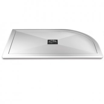 Aqualux AQUA25 Reflection Offset Quadrant Shower Tray with Waste 1200mm x 800mm, Left Handed