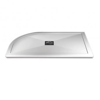 Aqualux AQUA25 Reflection Offset Quadrant Shower Tray with Waste 1200mm x 900mm, Right Handed