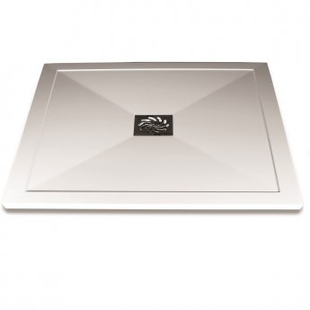 Aqualux AQUA25 Reflection Square Shower Tray with Waste 900mm x 900mm, Stone Resin