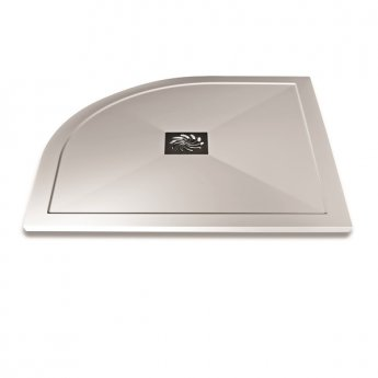 Aqualux AQUA25 Reflection Quadrant Shower Tray with Waste 800mm x 800mm, Stone Resin