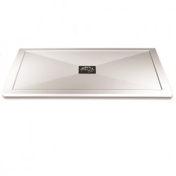 Aqualux AQUA25 Reflection Rectangular Shower Tray with Waste 1000mm x 900mm, Stone Resin