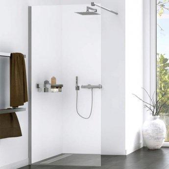 Aqualux Origin Walk-In Shower Panel Kit 800mm Wide - 8mm Clear Glass