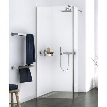 Aqualux Origin Walk-In Shower Panel with Splash Panel Kit 800mm Wide - 8mm Clear Glass