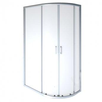 Aqualux Shine 8 Offset Quadrant Shower Enclosure 1000mm x 900mm Silver Frame - 8mm Glass