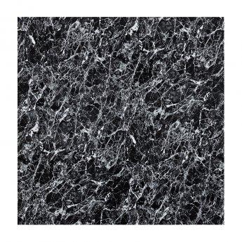 Aquashine M1 Series PVC Single Shower Wall Panel 1200mm Wide - Black Marble