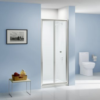 Aquashine Bi-Fold Shower Door 800mm Wide - 6mm Glass