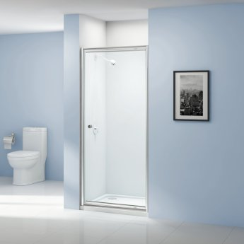 Aquashine Pivot Shower Door 760mm Wide - 6mm Glass