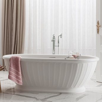 Arcade Albany Freestanding Natural Stone Bath with Waste and Overflow 1690mm x 800mm