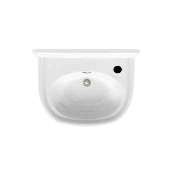 Arcade Wall Hung Cloakroom Basin 500mm Wide - 1 Tap Hole