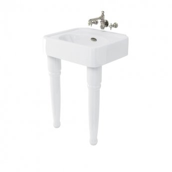 Arcade Basin 600mm Wide with Ceramic Console Legs - 0 Tap Hole