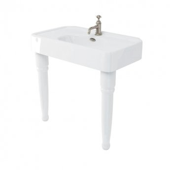 Arcade Basin 900mm Wide with Ceramic Console Legs - 1 Tap Hole