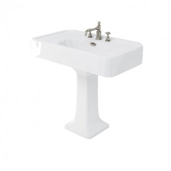 Arcade Basin 900mm Wide with Full Pedestal - 3 Tap Hole