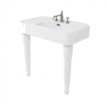 Arcade Basin 900mm Wide with Ceramic Console Legs - 3 Tap Hole