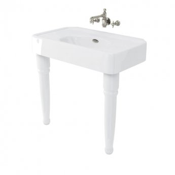Arcade Basin 900mm Wide with Ceramic Console Legs - 0 Tap Hole