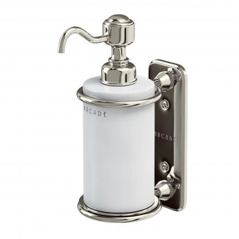 Arcade Wall Mounted Single Soap Dispenser - Nickel