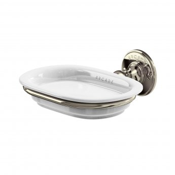 Arcade Wall Mounted Soap Dish 160mm Wide - Nickel