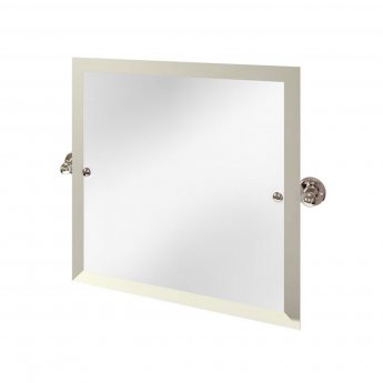 Arcade Swivel Mirror with Nickel Plated Brass Wall Mounts - Square
