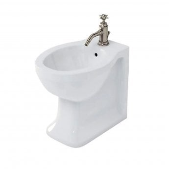 Arcade Traditional Back to Wall Bidet 365mm Wide with Overflow - 1 Tap Hole