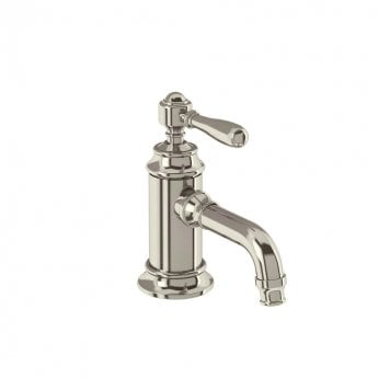 Arcade Single Lever Basin Mixer Tap with Brass Lever - Nickel