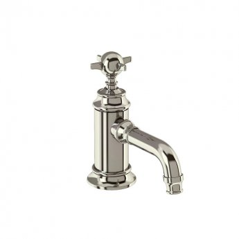 Arcade Single Lever Basin Mixer Tap with Tap Handle - Nickel