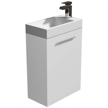 Arley Evora Wall Hung Vanity Unit with Basin 450mm Wide - White