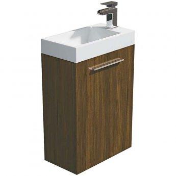Arley Evora Wall Hung Vanity Unit with Basin 450mm Wide - Walnut