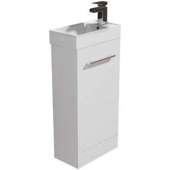 Arley Evora Floor Standing Vanity Unit with Basin 450mm Wide - White