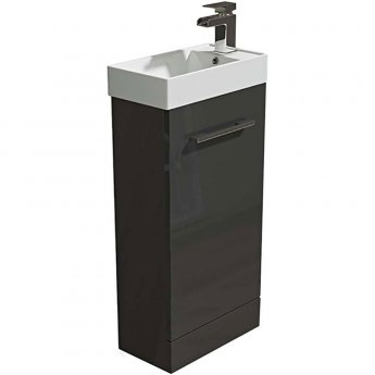 Arley Evora Floor Standing Vanity Unit with Basin 450mm Wide - Grey