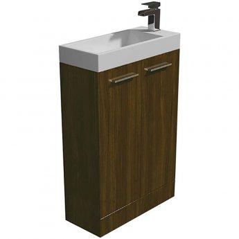 Arley Evora Floor Standing Vanity Unit with Basin 560mm Wide - Walnut