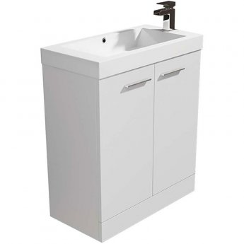 Arley Evora Floor Standing Vanity Unit with Basin 700mm Wide - White