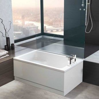 Arley Kent Rectangular Single Ended Integral Sit Bath 1200mm x 715mm - 0 Tap Hole