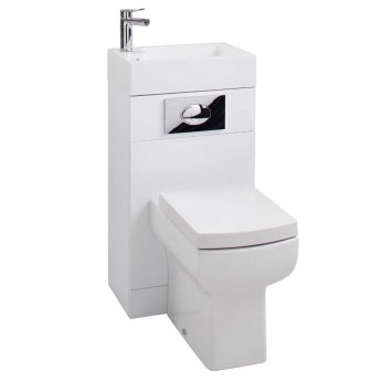 Arley Toilet and Basin Combination Unit with Basin Mixer Tap - Soft Close Seat