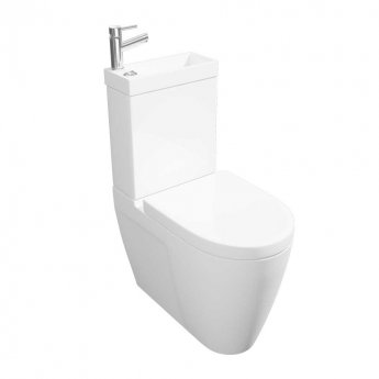 Arley Deluxe Integrated Combi Close Coupled Toilet and Basin with Basin Mixer Tap - Soft Close Seat