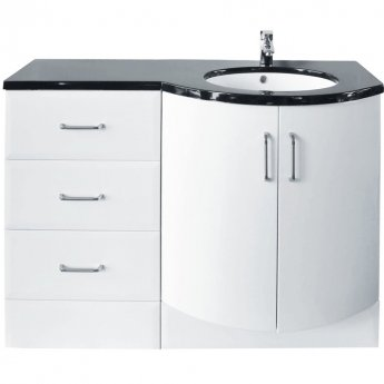 Arley Sparkle Combination Unit with Drawer Unit 1215mm Wide - Right Handed
